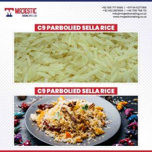 C9 parboiled sella rice
