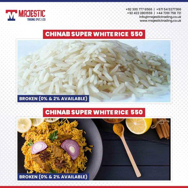 chinab supert white rice 550