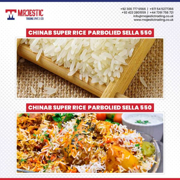 chinab super rice parbooiled sella 550